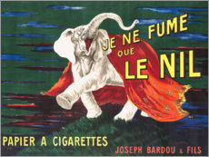 Wood print  I only smoke Nile (French) - Leonetto Cappiello