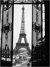 Foam board print  Eiffel Tower, ca 1920