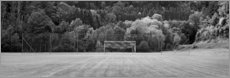 Canvas print  Football field in the country