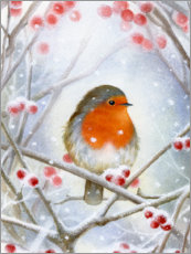 Foam board print  Little robin - Lisa Alderson