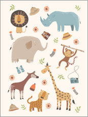 Foam board print  Safari Animals - Marta Munte