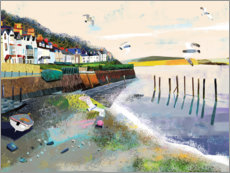 Wall sticker  Harbor at low tide - Paul Nicholls