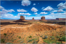 Aluminium print  Blue sky over Monument Valley - Salvadori Chiara