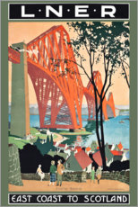 Premium poster Traveling on the East Coast to Scotland (English)