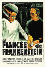 Wood print  Bride of Frankenstein - Entertainment Collection