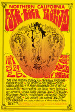 Premium poster Northern California Folk-Rock Festival
