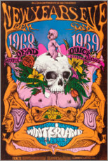 Premium poster New Year's Eve concert, Grateful Dead