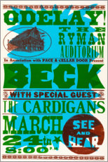Aluminium print  Beck With Special Guests, The Cardigans 1990s - Entertainment Collection