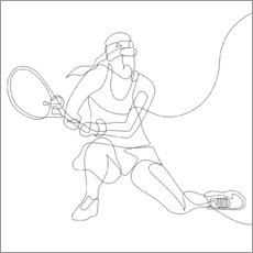 Foam board print  Tennis Player - Sasha Lend