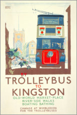 Premium poster Trolleybus to Kingston