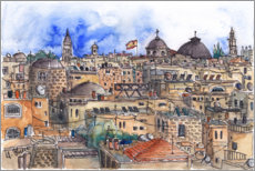 Foam board print  Roofs of Jerusalem - Hartmut Buse