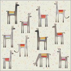 Gallery print  Llamas in a Meadow - Nic Squirrell