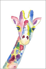 Acrylic print  The colorful cheerful giraffe - M. Bleichner
