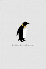 Canvas print  Hello Handsome - Penguin Set - Orara Studio