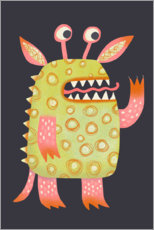 Wood print  Monster Rufus - Nic Squirrell