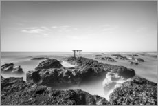 Premium poster  Torii at the sea - Jan Christopher Becke