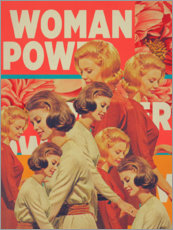 Wood print  Woman Power - Frank Moth