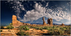 Premium poster  Balanced Rock Panorama, Arches National Park - Michael Rucker