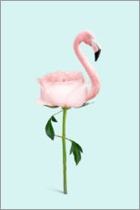 Wood print  Flamingo Rose - Jonas Loose