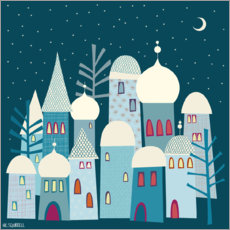 Premium poster  Snowy Rooftops - Nic Squirrell