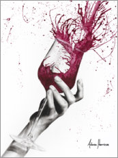 Canvas print  Panning red wine - Ashvin Harrison