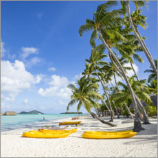 Premium poster  Beach vacation on Bora Bora - Jan Christopher Becke