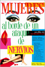 Wood print  Women on the verge of nervous breakdown (spanish) - Entertainment Collection