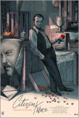 Wood print  Citizen Kane - Entertainment Collection
