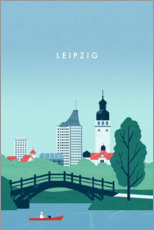 Canvas print  Leipzig illustration - Katinka Reinke