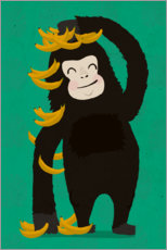 Canvas print  Gorilla with bananas - treechild