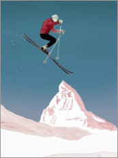 Premium poster  Mountain Love   Skier - Mantika Studio