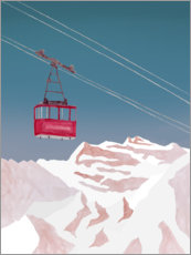Acrylic print  Cable car - Mantika Studio