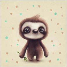 Canvas print  Cute Sloth - Elena Schweitzer