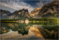 Premium poster Königssee where Bavaria is the most beautiful