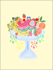 Wall sticker  Fancy Fruitbowl - Elisandra Sevenstar