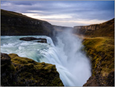 Canvas print  Gullfoss waterfall at sunrise, Iceland - Peter Wey