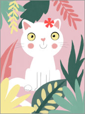 Wood print  Jungle cat - Julia Reyelt