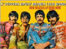 Foam board print  Sgt. Pepper's Lonely Hearts Club Band - Entertainment Collection