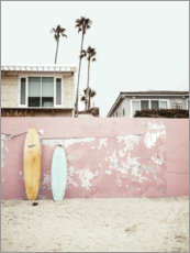 Wood print  Surfboards at the Beach House - Sisi And Seb