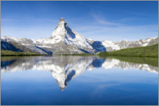 Premium poster  Stellisee and Matterhorn near Zermatt - Jan Christopher Becke
