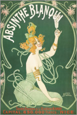 Wood print  Absinthe Blanqui (French) - Nover