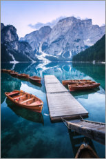 Canvas print  Reflection in the Lago di Braies - Matthias Köstler