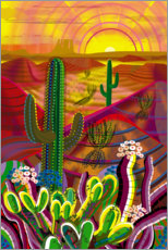 Premium poster  Peyote in the sunrise - Charles Harker