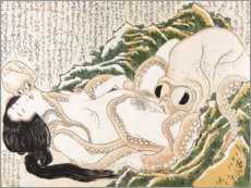 Foam board print  The Dream of the Fisherman's Wife - Katsushika Hokusai