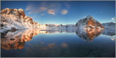 Premium poster Winter panorama of Reine
