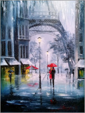 Canvas print  The first snow in Paris - Olha Darchuk