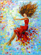 Canvas print  Girl on the swing - Olha Darchuk