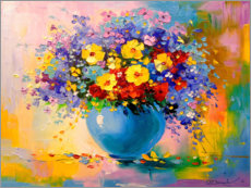 Canvas print  Bouquet of summer flowers - Olha Darchuk