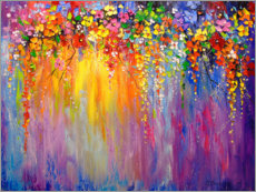 Premium poster  Abstract flowers - Olha Darchuk