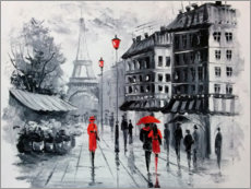 Canvas print  The streets of Paris - Olha Darchuk